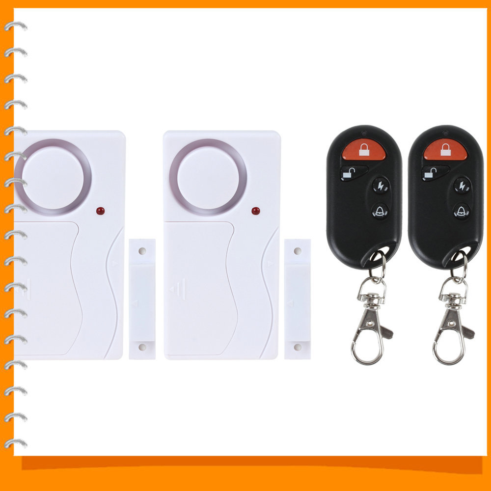 Гаджет  Wireless Smart 2 x Home Window Door Entry Alarm Magnetic Sensor Burglar Alarm & Doorbell with 20M Remote Control Distance None Безопасность и защита