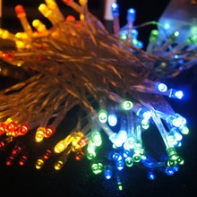 YG 10M 80LED Battery Power Operated LED String Lights Outdoor Waterproof Christmas light holiday wedding Decoration(China (Mainland))