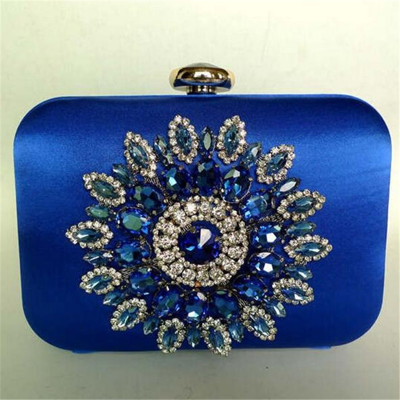 cheap royal blue clutch bag