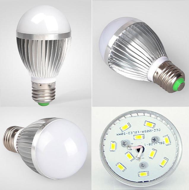3W 5W  7W LED Bulb E27 Base Utral Brightness Energy Saving Indoor Light Lamp White /Warm White 85~265V LED Light Lamp