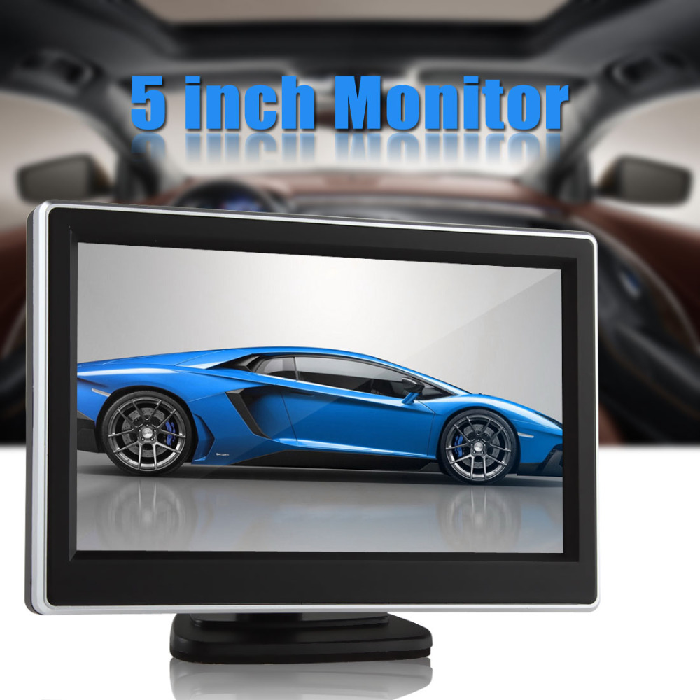 2 Ways Video Input 5 Inch TFT LCD Display 480 x 272 Definition Digital Panel Color Car Rear View Monitor For Rearview Camera(China (Mainland))