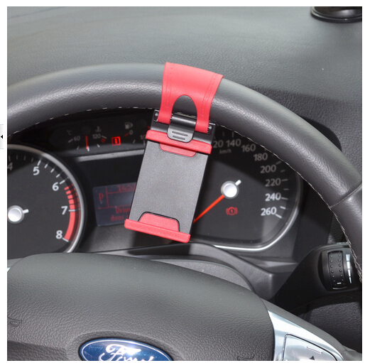 Universal Car Steering Wheel Mount Holder Rubber Band For iPhone For iPod MP4 GPS Mobile Phone Holders(China (Mainland))