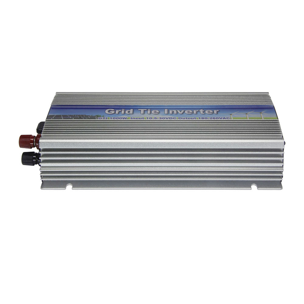 10.5-30v 1000W Solar High Frequency Pure Sine Wave Grid Tie Inverter Output 90-140V power inverter For Vmp18V panels(China (Mainland))