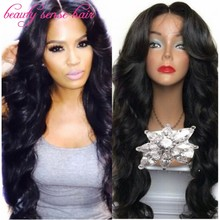 High quality 180 density Glueless full lace wigs Virgin Brazilian Human hair Wavy lace front wigs for black women with baby hair(China (Mainland))
