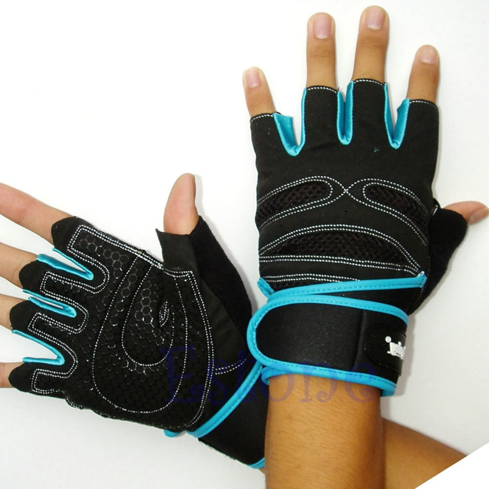 Weight Lifting Gloves With Wrap Around Wrist: Free Shipping Weight Lifting Gym Gloves Training Fitness