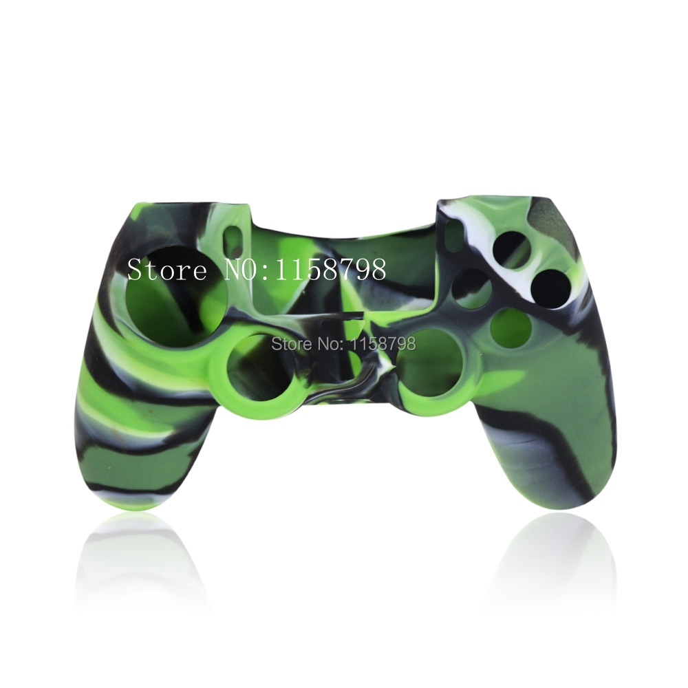 Free Shipping Camouflage Color Silicone Gel Rubber Case Skin Grip Cover For Playstation 3 PS3 Controller(China (Mainland))