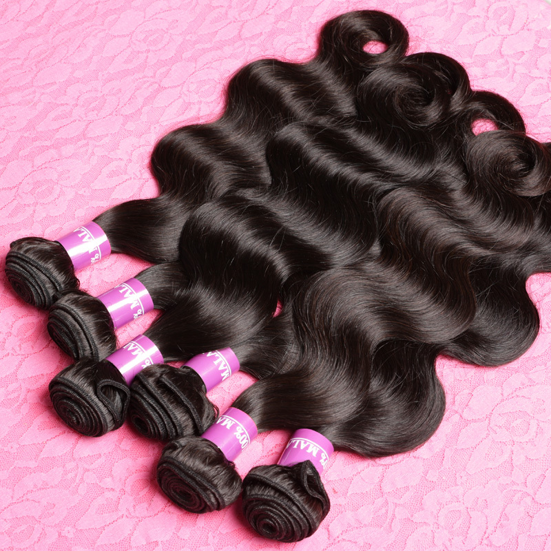 Grade 7A Unprocessed Virgin Hair Malaysian Body Wave 4 Bundles Human Hair Weave Natural Color Dyeable Cheap Wholesale(China (Mainland))