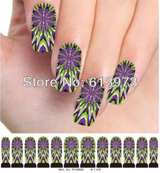10sheets/pack Nail Art Water Transfers Stickers nail tips Decals M1-075