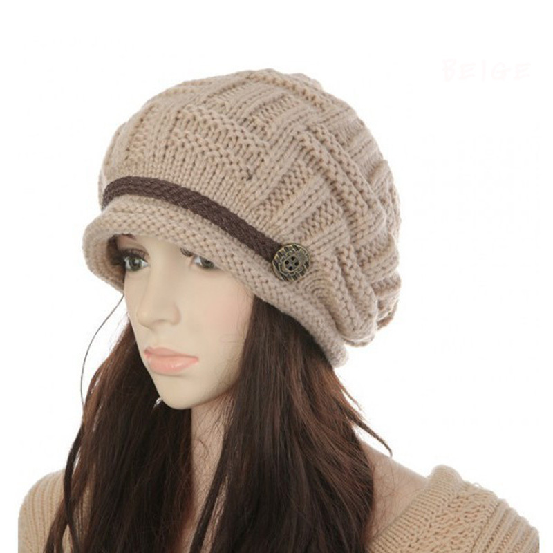 Hat female autumn and winter fashion beanies thermal knitted winter hat ear women's knitted hat(China (Mainland))
