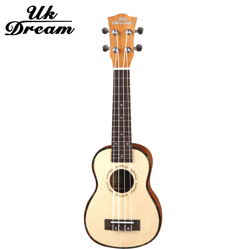 Uk Dream Spruce Mahogany Small 4 Strings Guitar 21 Inch Small Hawaii Acoustic Guitar Closed Knob 15 Frets Wood Color US-54A<br><br>Aliexpress