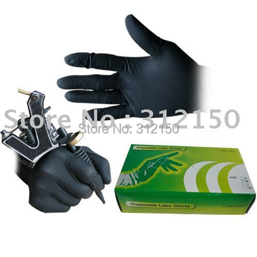 Тату аксессуары Sun 50pairs Tattoo Gloves 50pairs lot emergency supplies ecg defibrillation electrode patch prompt aed defibrillator trainer accessories not for clinical