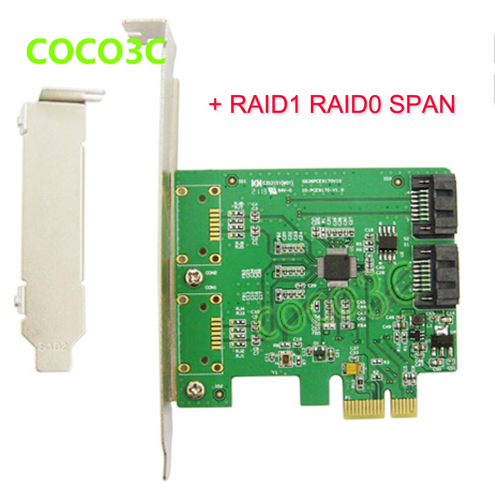 Marvell Chipset 2 Port SATA 6Gbps PCI Express Controller Card RAID 0 RAID1 + PCIe to SATA 3.0 SSD + Port Multiplier FIS(China (Mainland))