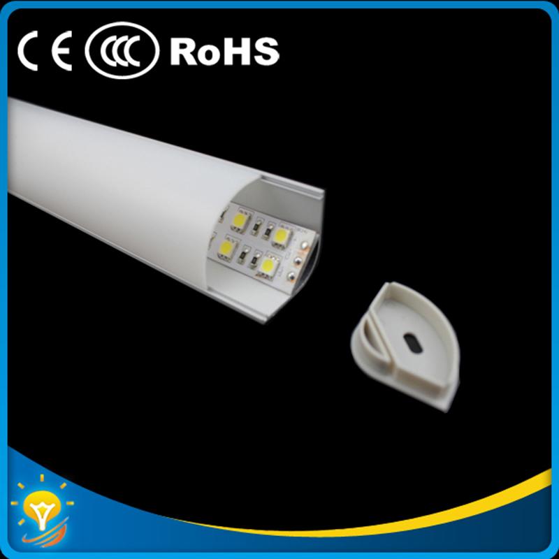 DHL Freeshipping 15pcs/lot big size Aluminum  corner LED profile for corner  led aluminium slot for Double row led strip light<br><br>Aliexpress