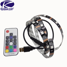 Buy USB 5V RGB LED Strip 0.5m 1m 2m 5050 LED Tape Ribbon Light TV Background Lighting Computer Car Bike Decor+17key Controller for $3.90 in AliExpress store