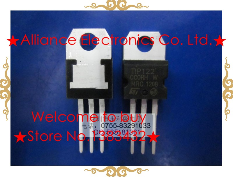 New TIP122 NPN TIP127 PNP 5A100V complementary power transistors Darlington(China (Mainland))