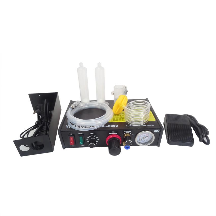 Фотография Free ship by DHL 8PCS YDL-2000 Semi-automatic Glue Dispenser AB UV Glue Dispenser Solder Paste Liquid Controller for SMD PCB