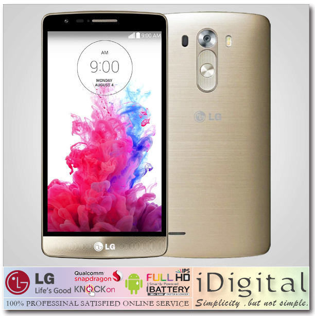 "Original Unlocked LG G3 D855 D850 16GB/32GB ROM Quad-Core 2.5GHz 2GB RAM 5.5"" IPS 2560*1440 13.0MP Android 3G/4G LTE Smartphone(China (Mainland))"