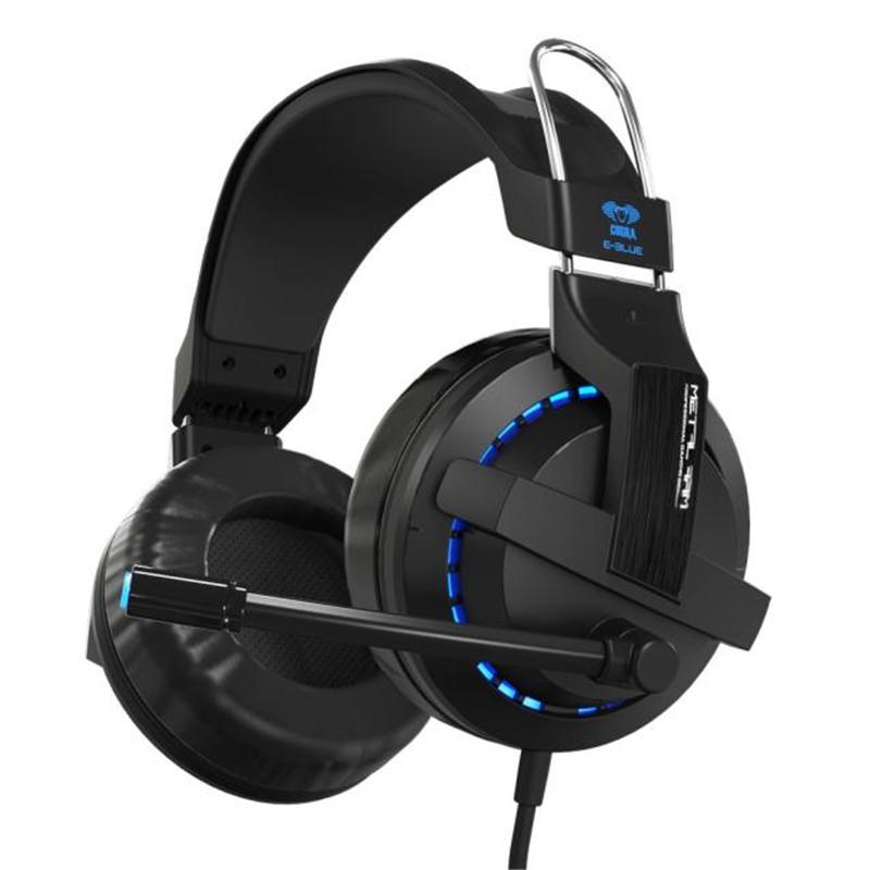 E-3LUE Cobra H937 Blue Light Gaming Headsets Earphone Camputer Razer Game LOL DOTA Headphone with Microphone 3.5mm audio(China (Mainland))