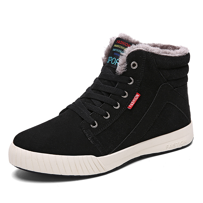 New Arrival Winter High Top Men Shoes Suede Leather Casual ...
