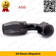 AN-6 (AN6) 90 degree PUSH ON Fast Flow Stealth Black Hose Fitting Aluminum Swivel Hose End Fitting Adapter Oil Fuel Line(China (Mainland))