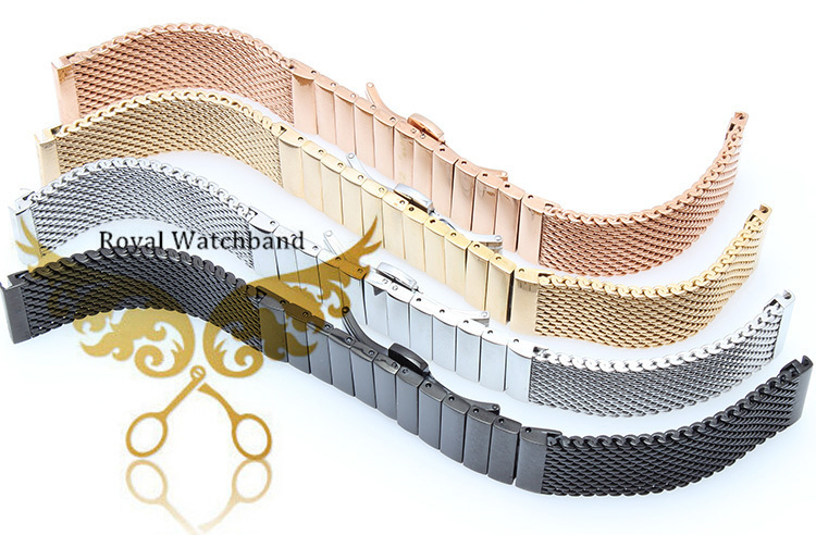 Часы полоса 20 мм 22 мм 24 мм высокое качество нержавеющей стали акула сетки браслет дайвинг ремешок браслеты