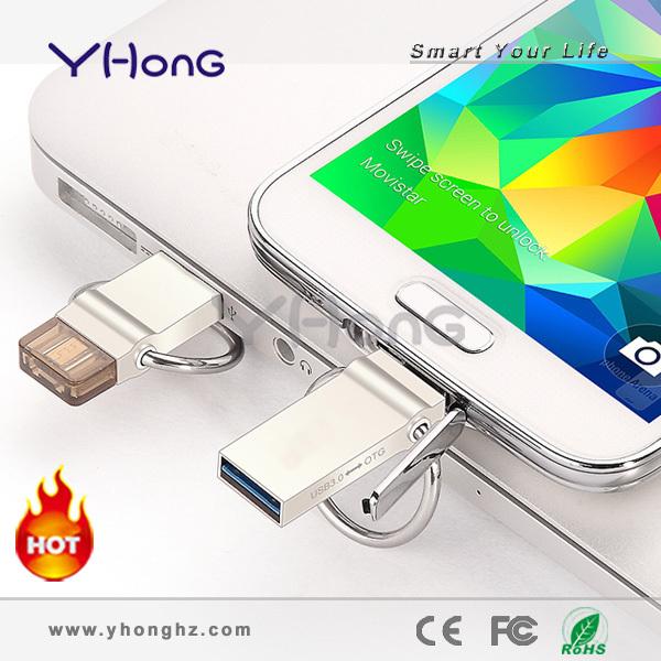 Real capacity mini Zinc Alloy Smart phone pen drive 16GB 32GB Private custom service Micro USB 3.0 memory disk(China (Mainland))
