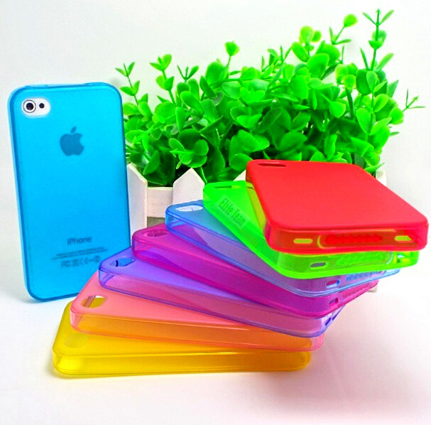 4/4S Cute Colors Soft Silicone Suitable Cover Apple iPhone4 iPhone4S Case iPhone 4 4S Cell Phone Shell 2016 Newest Best! - PHONE-CASE HOME store