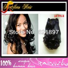 Best selling Wavy 100 pecent Brazilian hair weft