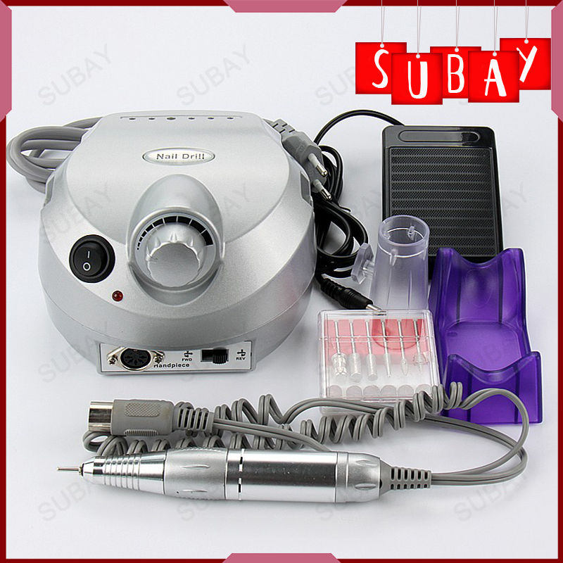 Nail Art File Bits Machine Manicure Kit 30000 RPM 110V/220V Silver Electric Nail Drill Professional Nail Tools Free shipping<br><br>Aliexpress