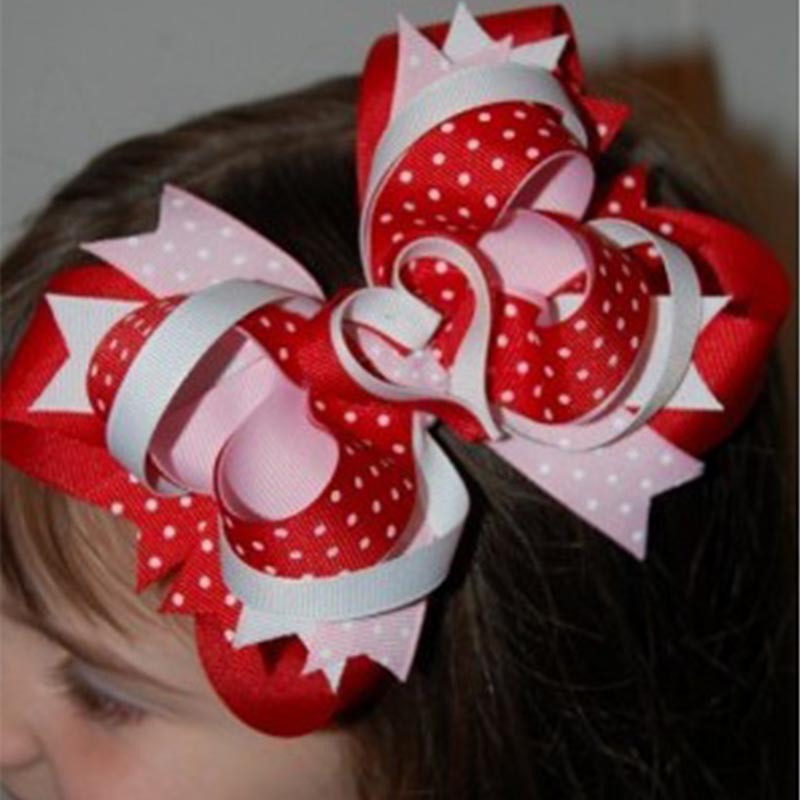 """4"""" Girls' Hair Accessories hairs clips with grosgrain ribbon bows Baby hair bows Childrens hairbows LB44(China (Mainland))"""