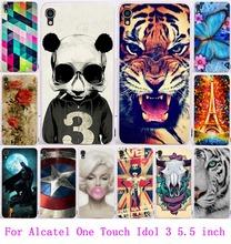 22 моделей живопись жесткого пластика телефон обложка чехол для Alcatel One Touch идол 3 5.5 чехол 6045 6045Y 6045 К защитный чехол