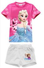 2016 Summer Kid Girls Clothing Set 100% Cotton Baby Girls Clothes Set 2-8 Years Children Boys Sport Suit Roupas Infantis Menino(China (Mainland))