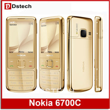 Full package Free shipping Original 6700C Nokia 6700 Cell Phone Unlocked 6700 Classic Original Mobile Phone Russian Keyboard