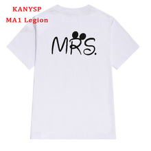 Buy high Couples t shirt MR MRS Letter Printed t-shirt O-neck Short Sleeve Lover T shirts Women Men Casual Cotton Tops Tee for $8.39 in AliExpress store