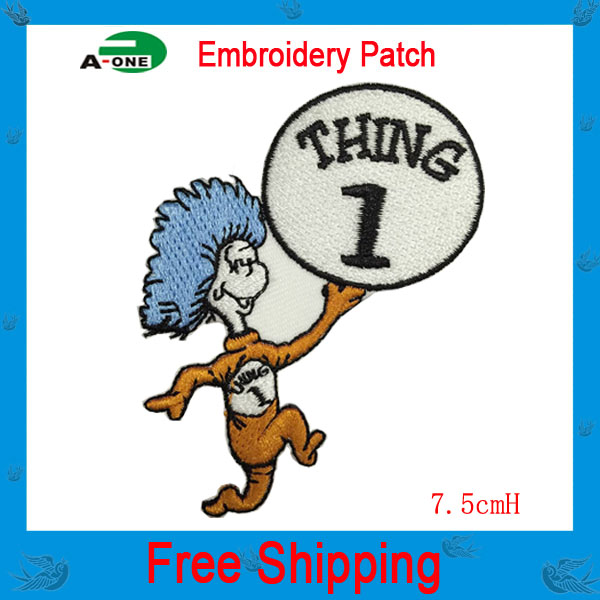 Personality Cartoon character Uniform Costume Movie TV Uniform Embroidered LOGO Iron On Patch Emo Goth Rockabilly free shipping(China (Mainland))
