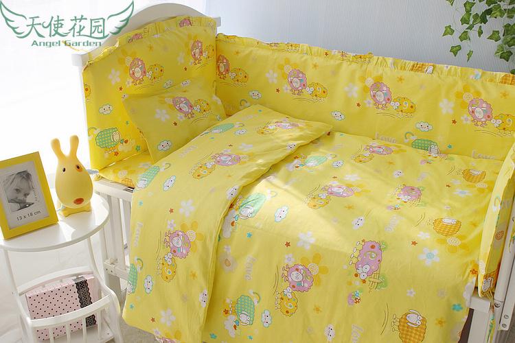Baby Bedding Set Boy 5 pcs Cotton Material jogo de cama Baby Crib Bedding Set Baby Bedding Unisex<br><br>Aliexpress