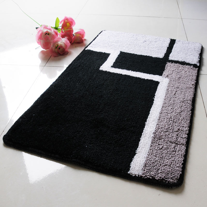 Doormat Mat Mats Carpet Bath Mat Black And White Brief Fashion Super Large 50 80cm Inbath Mats