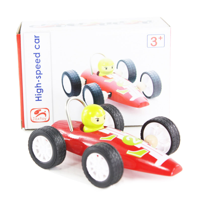 3+ children wooden high-speed car pull back car wooden educational toys children Diecasts & Toy Vehicles(China (Mainland))