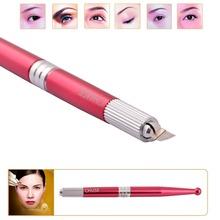 Free Shipping Chuse M5 Aluminum Professional Permanent Makeup Manual Eyebrow Tattoo Pen Famous Brand Make You Fashion(China (Mainland))