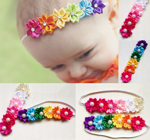 Hot Sale Candy Color Six Flower Baby Headband Girl's Headwear children Hair Accessories FD165(China (Mainland))