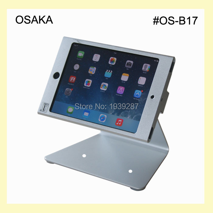 for mini ipad desktop kiosk POS stand with secure lock specialized frame display support on desk/ table / countertop(China (Mainland))