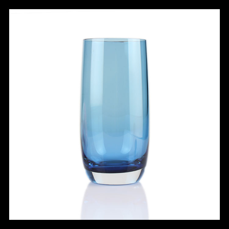 Wholesale Blue Colored Drinking Glass Water And Juice
