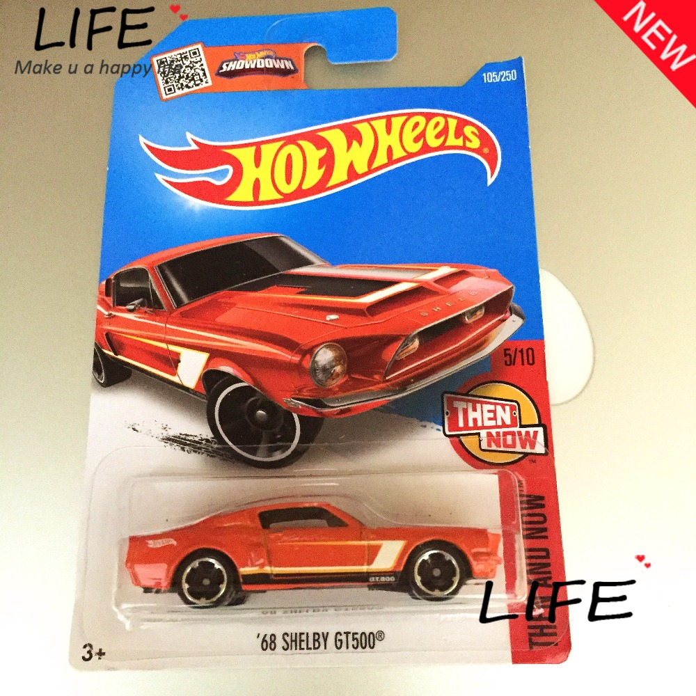 2016 Free Shipping Hot Wheels 68th shelby gt500 Car Models Metal Diecast Cars Collection Kids Toys Vehicle For Children Juguetes(China (Mainland))