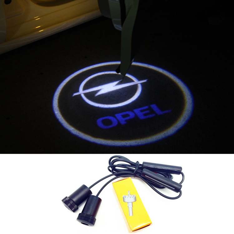 LED Door Warning Light With Opel Logo Projector For Opel astra h astra j mokka astra g insignia astra corsa zafira vectra