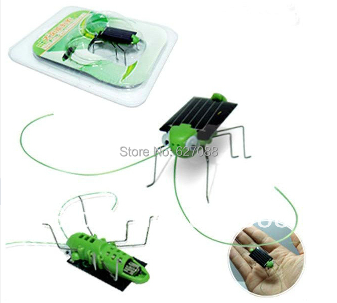 Solar grasshopper, Solar Cockroach,Green gift Powered Grasshopper Toys Wholesale Creative Educational Toy Strange new(China (Mainland))
