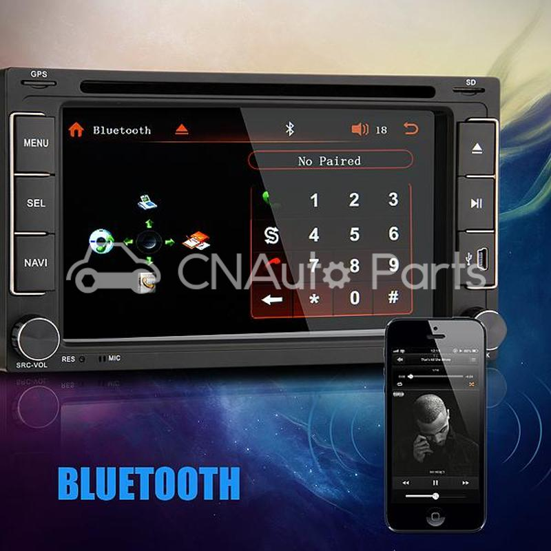6 2 Car DVD Player Stereo In Dash 2 DIN Rear View Camera for iPod for