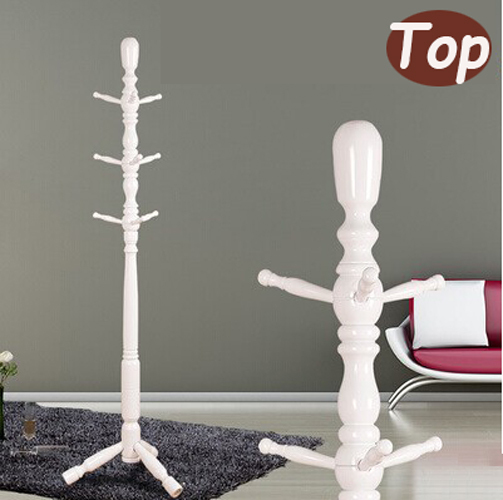 Wholesale! European style white coatrack 100% wooden coat racks stand,9 hooks,wooden living room furniture,Home Furnishing Decor(China (Mainland))