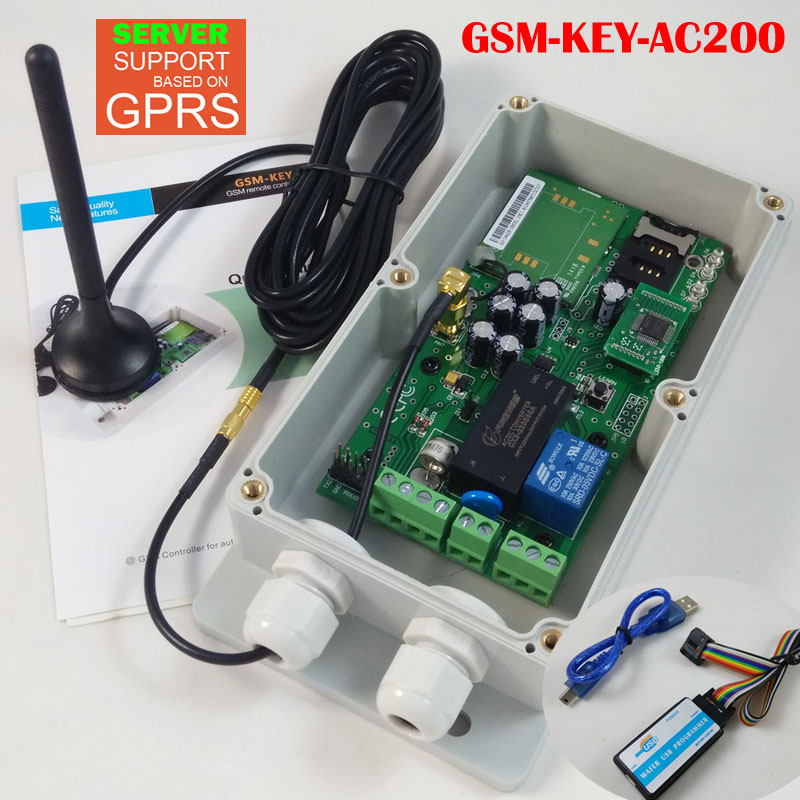 GPRS server support GSM Remote control for garage door opener (Quad band Designed)(China (Mainland))