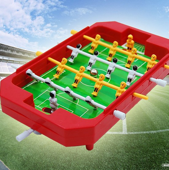 Mini kids tabletop football machines 4 pole desktop toys games Soccer Table Foosball Ball for Home entertainment party(China (Mainland))