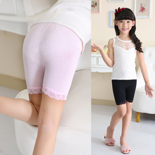 2016 Top Quality Brand Girl Safety Panties Comfort 3 Colors Cute Pink 100% Cotton Underwear baby Boxer Briefs String Leggings